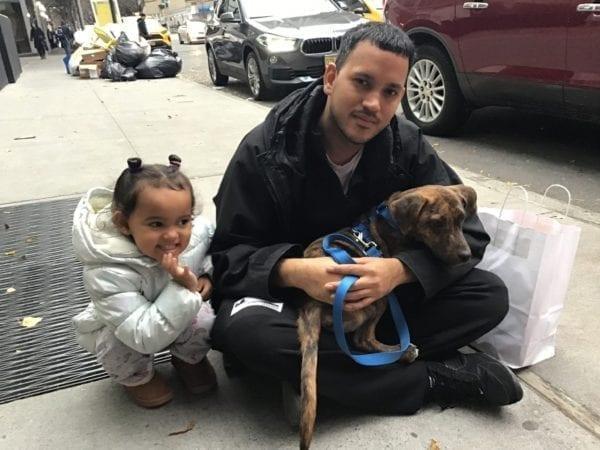 Sofia Sorrento and Bernardo Rodriguez outside the ASPCA Adoption Center