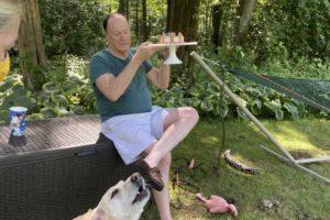 dog birthday party july 2020 nellie dad