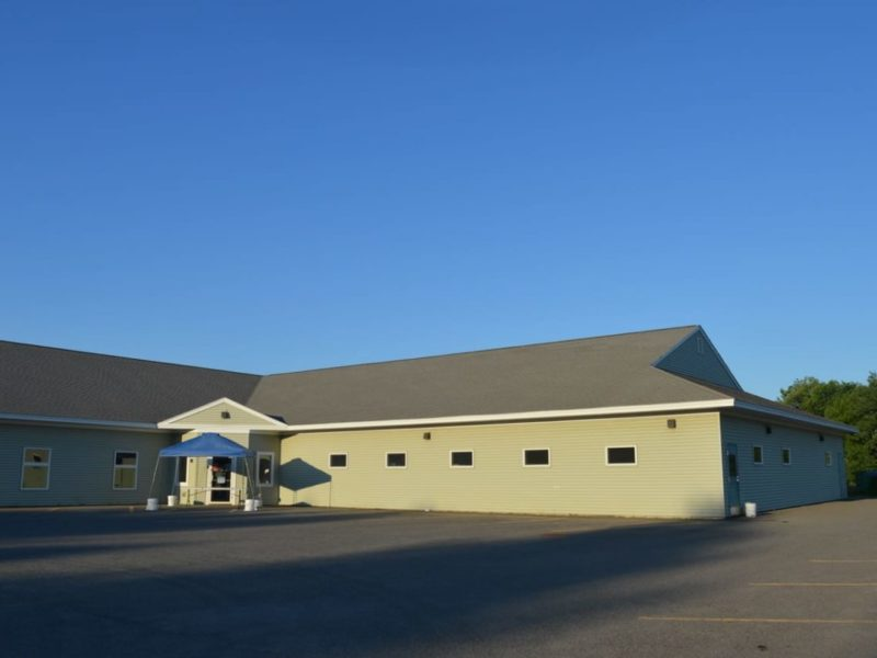 the exterior of HSWA. the dog kennels are on the right side of this L shaped building (1)