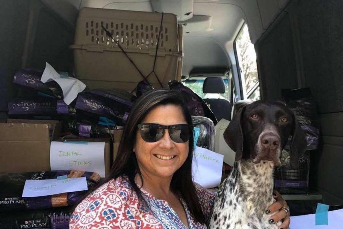 Val and CJ 2018 volunteering CA wildfires